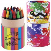 Custom Design Assorted Colour Crayons In Cardboard Tube at Vivid Promo