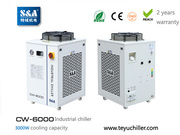 S&A water chiller CW-6000 with 3KW cooling capacity and environmental