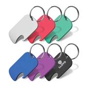 Custom Branded Dog Tag Bottle Opener Key Ring at Vivid Promotions