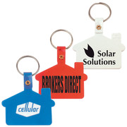 Branded House Shaped PVC Keyrings and Keytags