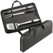 Customised BBQ Set | Branded 3 Piece Stainless Steel BBQ Set