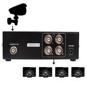 4-Port BNC Coax Composite Video Splitter Distribution Amplifier CCTV