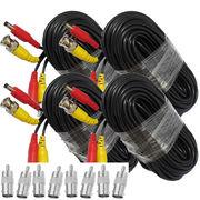 4pcs 60ft 18M BNC Video Power Siamese Cable for CCTV Surveillance