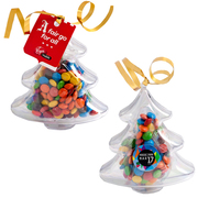 Christmas Candy | Imprinted Acrylic Tree Filled With Mini MMs 50g