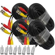 4 x 18M 60FT Video DC Power Security Surveillance BNC RCA Cable